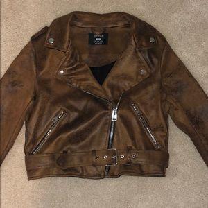 Bershk faux leather jacket
